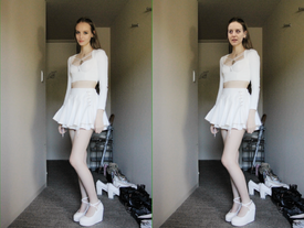 f62491d6166f Does anyone know where to find a skirt like this? It looks comfy and I like  to wear skirts but the trendiest ones right now are tight ones or too long  on ...