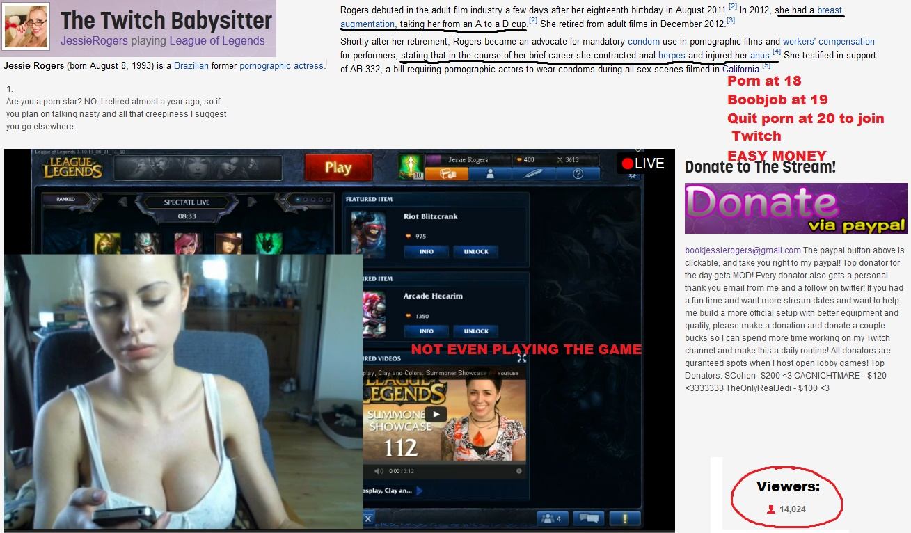 Twitch nude girl on